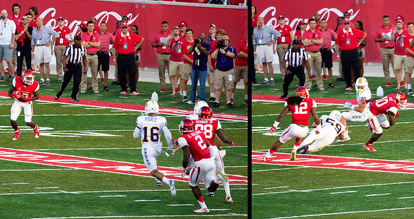 Ayres runs the ball for UH.