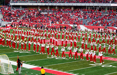 The UH Marching Band scrambles...