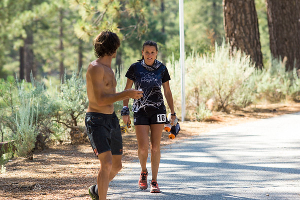 Eventual winner Keira Henninger  was intense and focused at mile 50, Chilao Campground. Congratulations Keira!