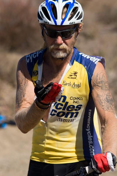 Tattooed biker
