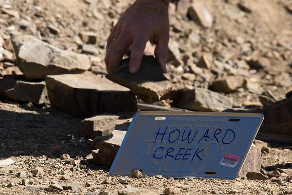 Marking trail to Howard Creek