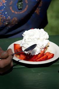 Strawberry dessert at Boccalis.