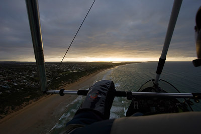 Headed towards the sun, on route to Point Lonsdale