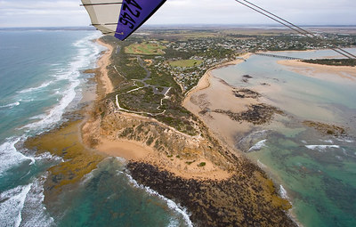 Flying around the Point at Barwon Heads