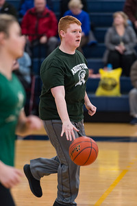 Christopher Haggerty brings the ball up court  for the Abington Unified Basketball team against Hanover on 2/13/18 at Hanover High School [Courtesy Photo/Bill Marquardt]
