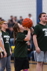 Gretchen Wronski takes a shot for the Abington Unified Basketball team against Hanover on 2/13/18 at Hanover High School [Courtesy Photo/Bill Marquardt]