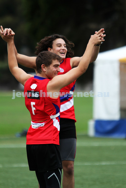 25-3-12. Unity Cup 2012. Brandon Joel and Joel Kuperholz. Grand Final. MUJU v Southern Dragons. Photo: Peter Haskin