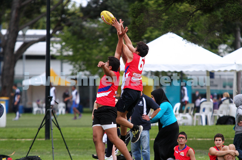 25-3-12. Unity Cup 2012. MUJU v Mt Scopus. Photo: Peter Haskin