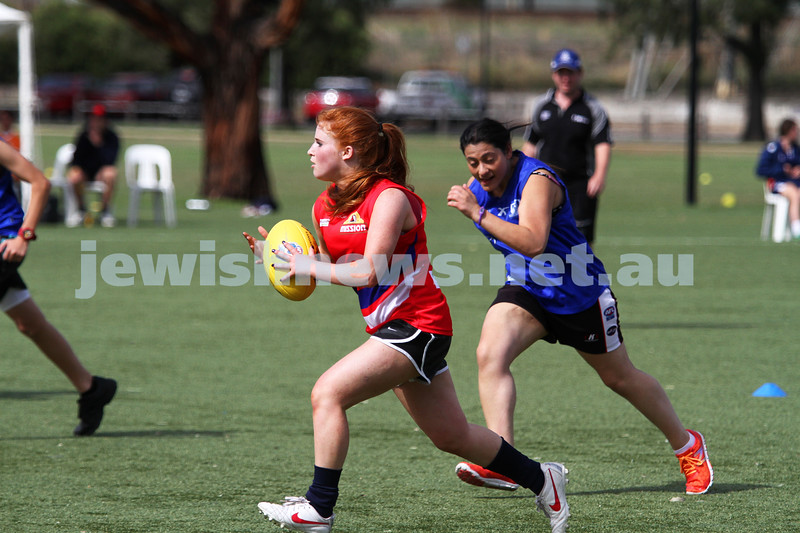 24-3-13. Unity Cup. Chelsea Fisher from the MUJU women's team. Photo: Peter Haskin