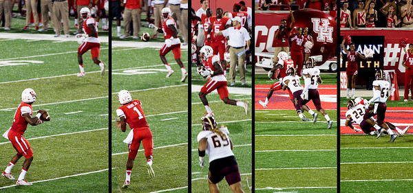 Ward's touchdown pass to Dunbar
