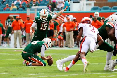 October 17, 2015 University of Miami vs. Virginia Tech.  Miami defeated VT 30-20.