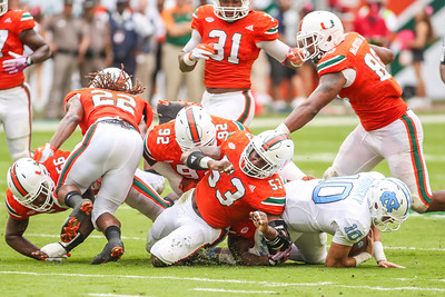 University of Miami vs. University of North Carolina.