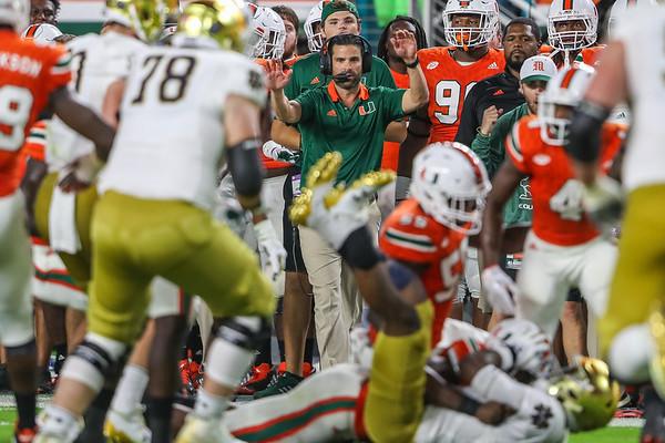 University of Miami vs. Notre Dame.