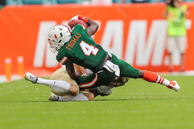 Miami Hurricanes wide receiver Jeff Thomas
