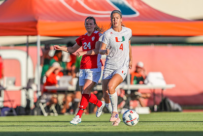 Ronnie Johnson and University of Miami Soccer play the first game of the season.  The Canes hosted  Saint Francis (PA) and won 6-0.