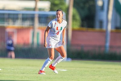 Grace Rapp and University of Miami Soccer play the first game of the season.  The Canes hosted  Saint Francis (PA) and won 6-0.