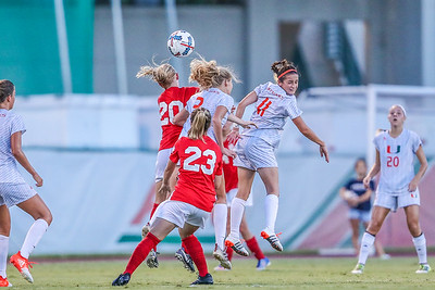 Ainsly Wolfinbarger and University of Miami Soccer play the first game of the season.  The Canes hosted  Saint Francis (PA) and won 6-0.