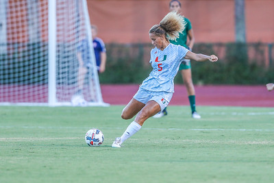 Maisie Baker and University of Miami Soccer play the first game of the season.  The Canes hosted  Saint Francis (PA) and won 6-0.