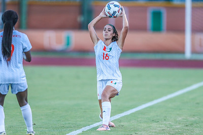Madison Louk and University of Miami Soccer play the first game of the season.  The Canes hosted  Saint Francis (PA) and won 6-0.