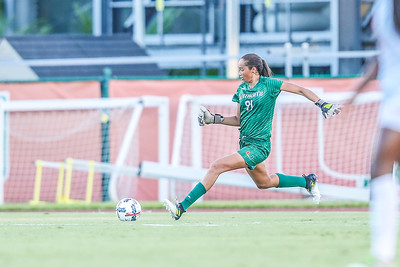 Phallon Tullis-Joycen and University of Miami Soccer play the first game of the season.  The Canes hosted  Saint Francis (PA) and won 6-0.