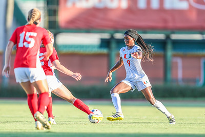 Dejah Cason and University of Miami Soccer play the first game of the season.  The Canes hosted  Saint Francis (PA) and won 6-0.