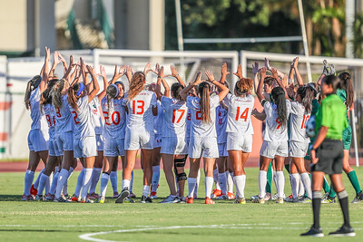 University of Miami Soccer play the first game of the season.  The Canes hosted  Saint Francis (PA) and won 6-0.