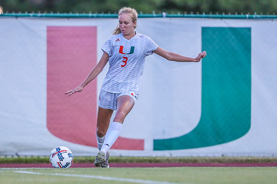 Jamie Brunworth and University of Miami Soccer play the first game of the season.  The Canes hosted  Saint Francis (PA) and won 6-0.