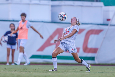 Bayleigh Chaviers and University of Miami Soccer play the first game of the season.  The Canes hosted  Saint Francis (PA) and won 6-0.