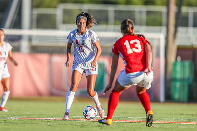 Lauren Markwith and University of Miami Soccer play the first game of the season.  The Canes hosted  Saint Francis (PA) and won 6-0.