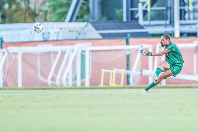Phallon Tullis-Joyce and University of Miami Soccer play the first game of the season.  The Canes hosted  Saint Francis (PA) and won 6-0.