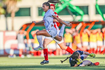 Kristina Fisher and University of Miami Soccer play the first game of the season.  The Canes hosted  Saint Francis (PA) and won 6-0.