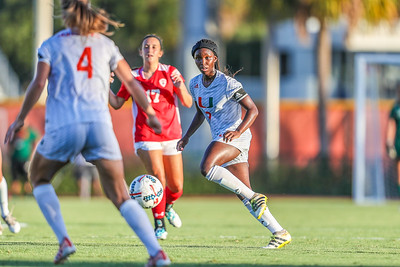 Dejah Casonand University of Miami Soccer play the first game of the season.  The Canes hosted  Saint Francis (PA) and won 6-0.