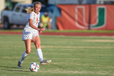 Jamie Brunworth  of  the University of Miami competes against Florida Tech in a soccer exhibition match before the start of the 2017-18 season.