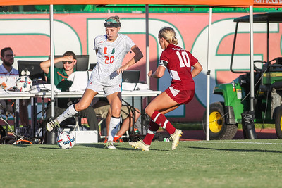 Bayleigh Chaviers of  the University of Miami competes against Florida Tech in a soccer exhibition match before the start of the 2017-18 season.