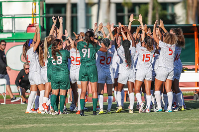 University of Miami competes against Florida Tech in a soccer exhibition match before the start of the 2017-18 season.