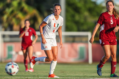 Grace Rapp  of  the University of Miami competes against Florida Tech in a soccer exhibition match before the start of the 2017-18 season.