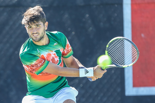 University of Miami Mens Tennis vs. FAU, January 21, 2019.