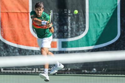 University of Miami Mens Tennis vs. FAU, January 21, 2019.