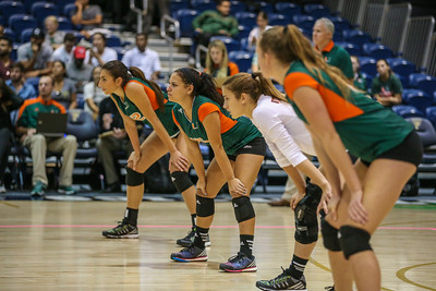 University of Miami Volleyball defeated FIU Panthers in straight sets.