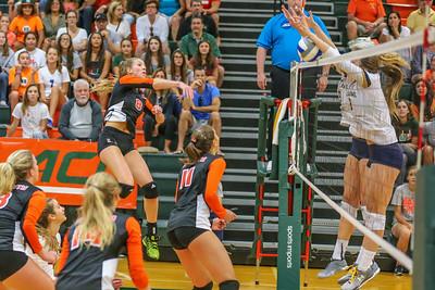 University of Miami Hurricanes vs. Notre Dame Fighting Irish, Women's Volleyball