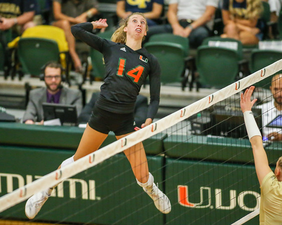 2018 University of Miami Volleyball vs. Georgia Tech.
