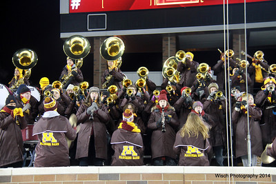 UofMN Band and Cheerleaders 2014