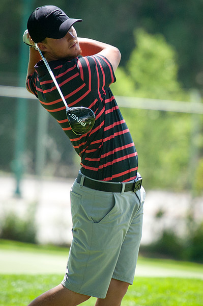 Weber State's own Devon Purser competes in the Utah State Amateur competition. At the Ogden Golf and Country Club. On July 8, 2014. (BRIAN WOLFER/Standard-Examiner)