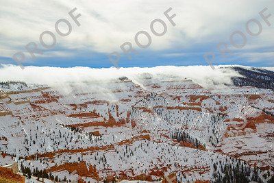 A magical moment in Cedar Breaks National Monument as cloud roll in from the south and over the ridge. This was taken from Chessman overlook.