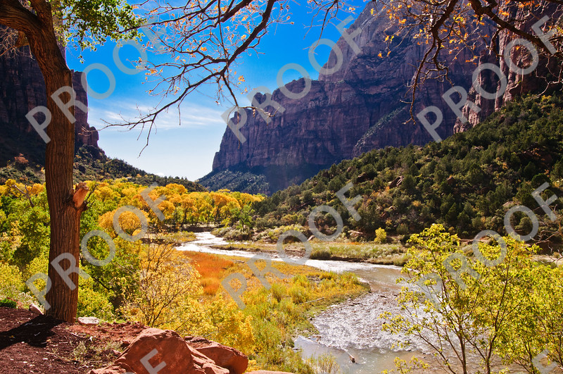 Zion National Park in fall colors.