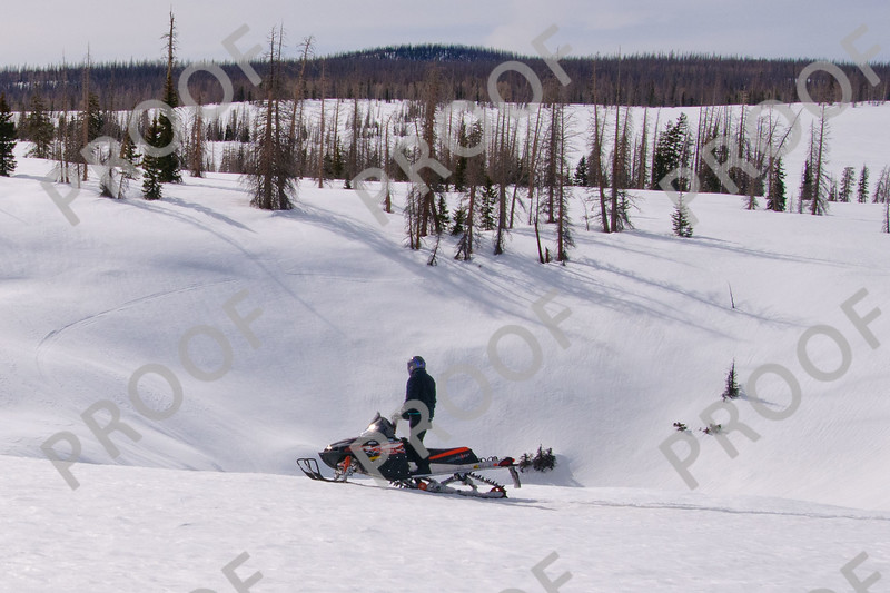 """Snowmobiling around Brian Head can get you to the spectacular area known as """"the craters"""". Some look like you would fall to the center of the Earth."""