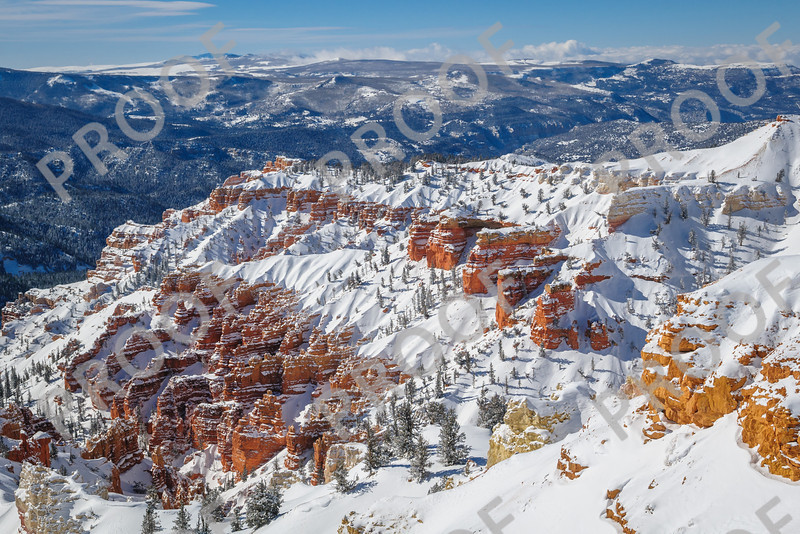A cold but pretty view of Cedar Breaks National Monument, taken 1/14/13.