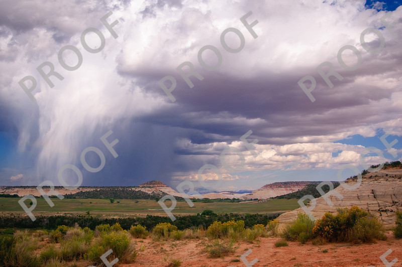 Clouds above Capital Reef NP.