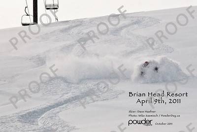 April 2011, and fresh tracks in 4 feet of new snow. This picture was in Powder Magazine and is available in a version without the information on the print.