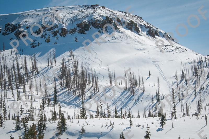 Great tracks add to the vista of Brian Head Peak.